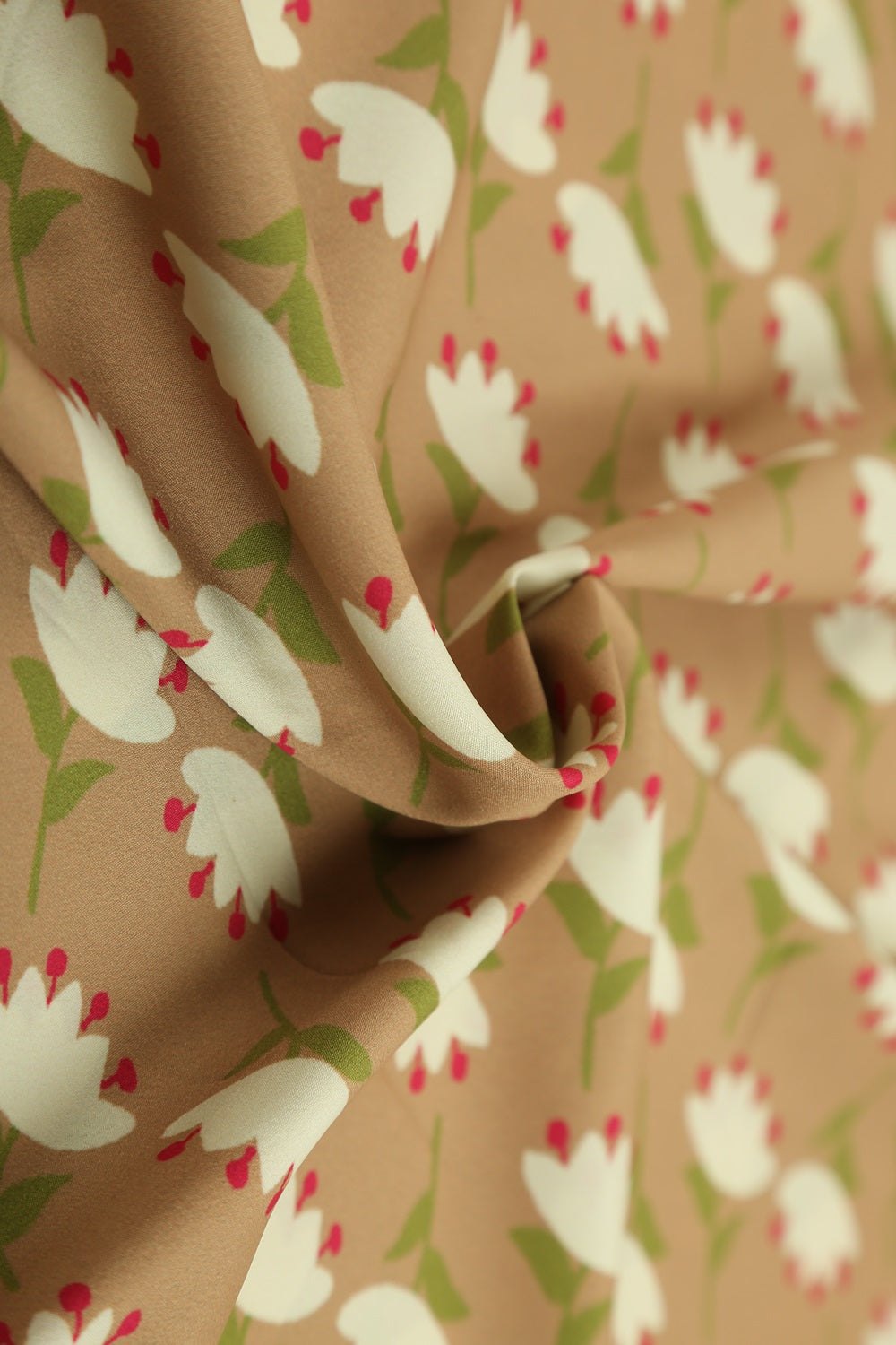 Crepe Printed Fabric - GleamBerry