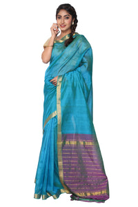 Blue Pattu Kancheepuram Silk Saree - GleamBerry