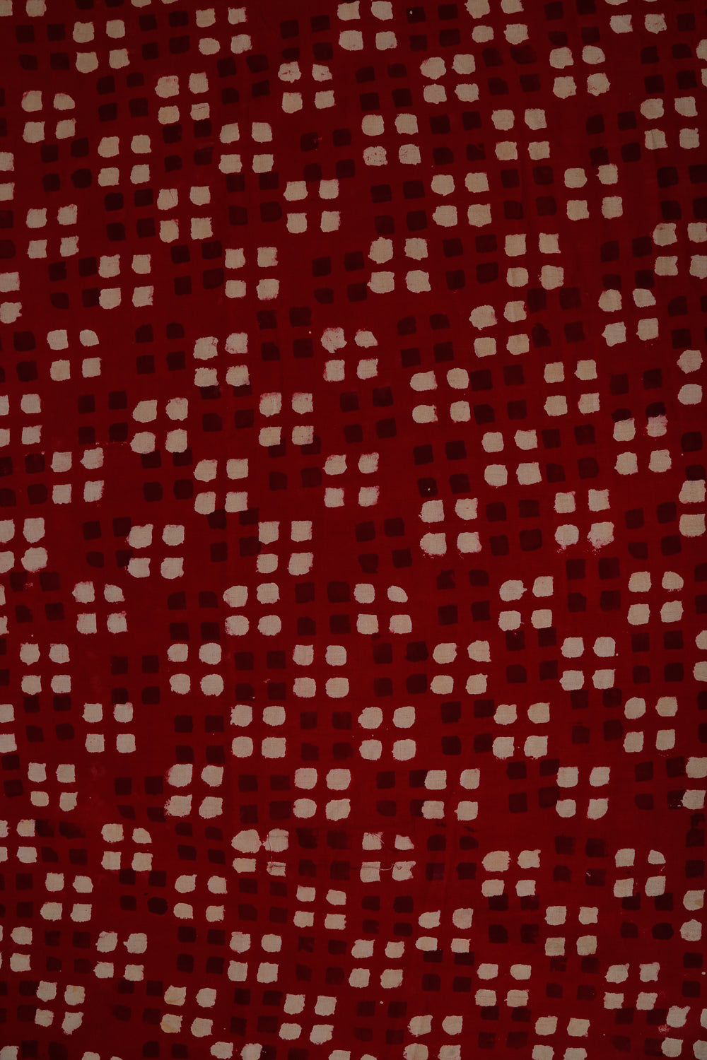 Red Sanganer Block Print Cotton Fabric