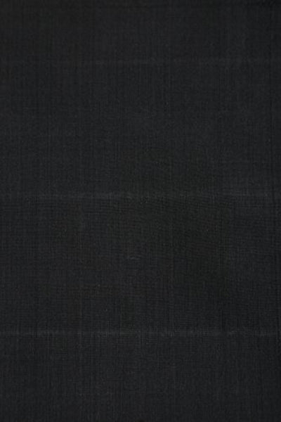 Black Handloom Hand Woven Mangalgiri Cotton Fabric