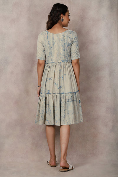 Blue Dabu Dress - GleamBerry