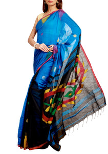 Multicolor Cotton Saree - GleamBerry