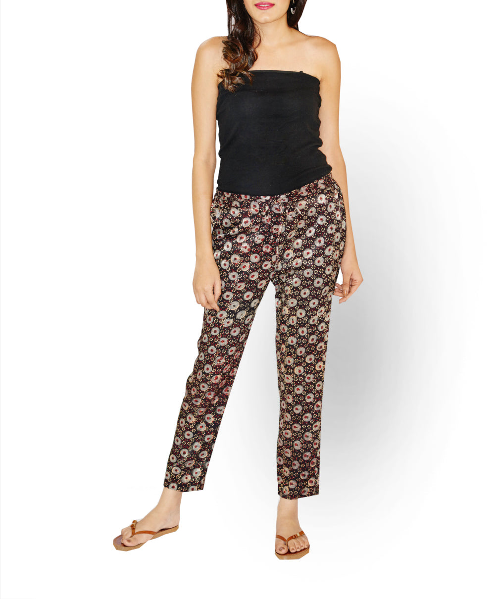 Elasticated Waist Mashru Pant - GleamBerry