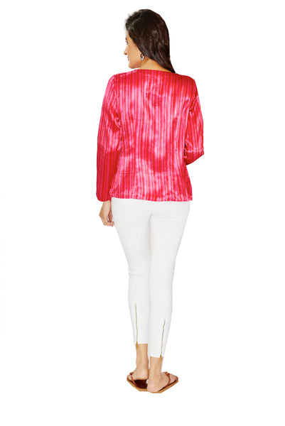 American Rose Mashru Jacket - GleamBerry