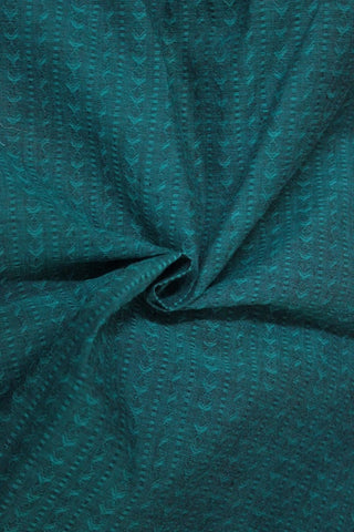 Green Jacquard Cotton Fabric - GleamBerry