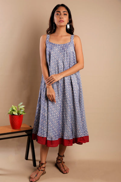 Ikkat Flare Dress