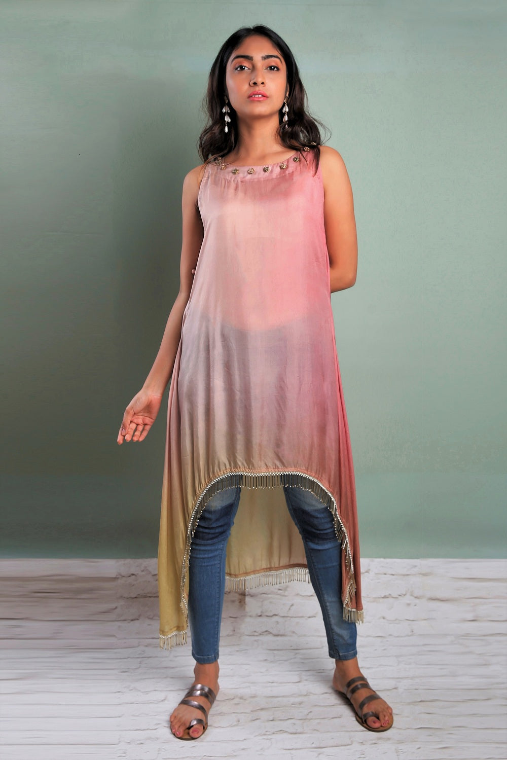 Shaded Asymmetric Kurti