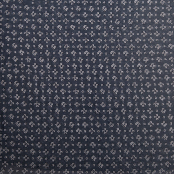 Grey Printed Chiffon Dobby Fabric