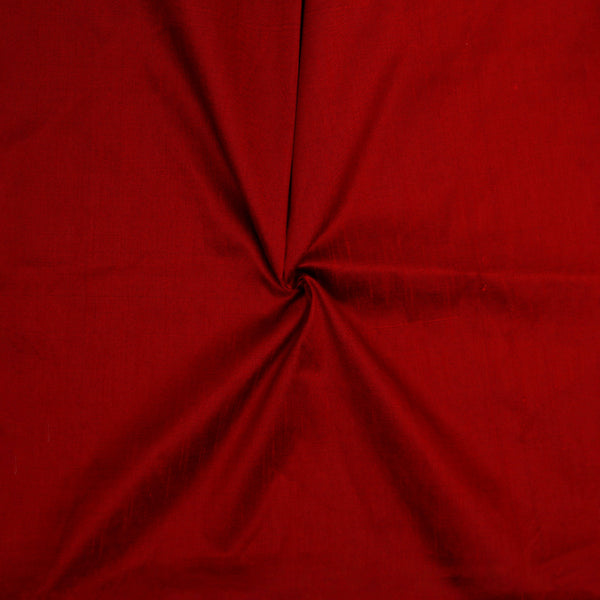 Maroon Slub Silk Fabric