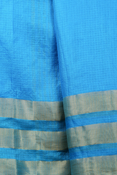 Blue Kota Silk Saree - GleamBerry