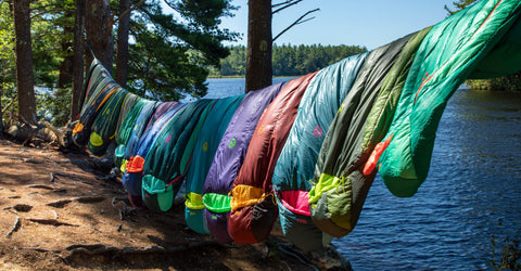 Hanging your sleeping bag helps it dry faster