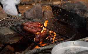 Food tastes better cooked over a campfire