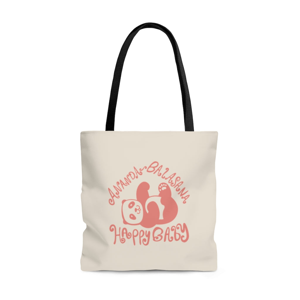 Blissful Balasana Blush (Happy Baby) Tote