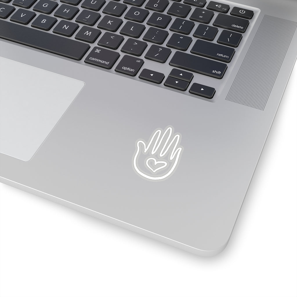 Abhaya Mudra, Kiss-Cut Sticker White