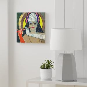 Krishna on Wood Canvas