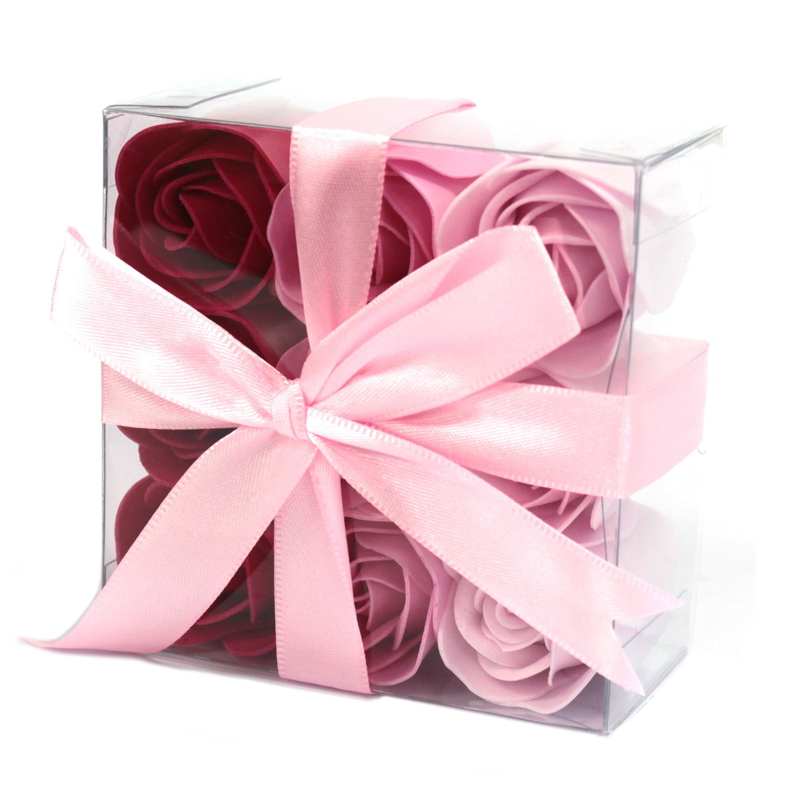 Soap Flowers - Set of 9 Pink Roses