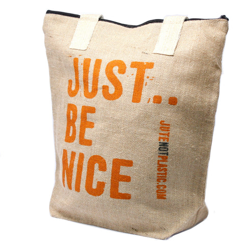 Eco Jute Not Plastic Bag - Just Be Nice