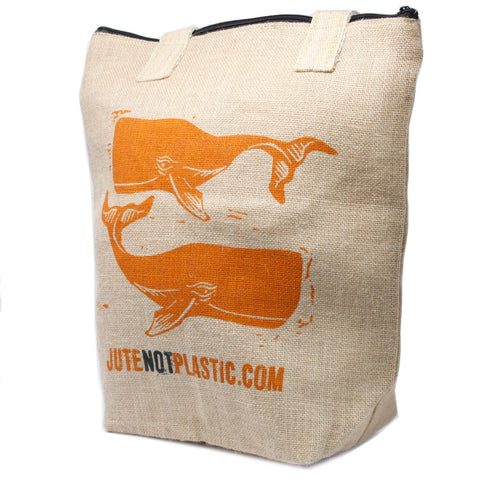 Eco Jute Not Plastic Bag - Two Whales