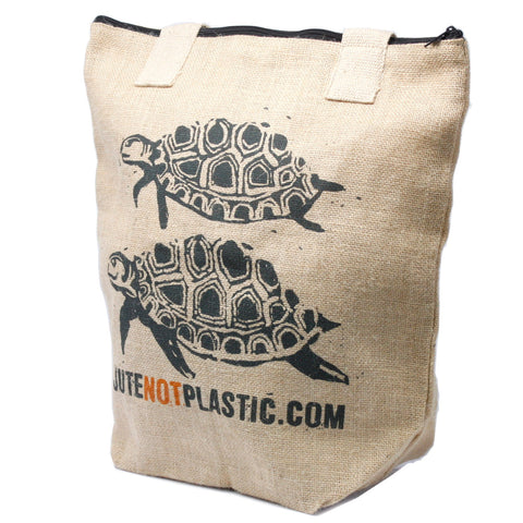 Eco Jute Not Plastic Bag - Two Turtles