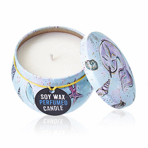 Art Tin Candle - Sea Life - Raspberry