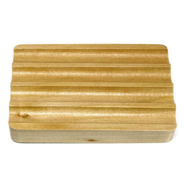 Soap Dish - Wooden - Corrugated