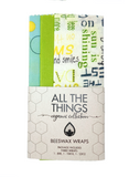 Organic Beeswax Wraps Square