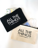 Cotton Canvas Zip Bags All The Things (pkg of 2)