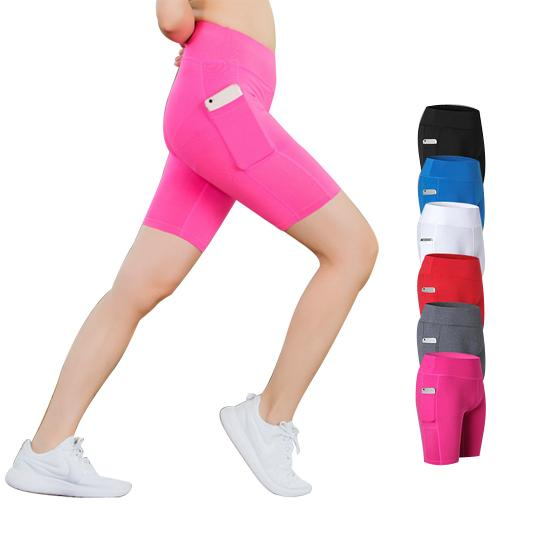 Yoga Shorts (All Seasons) Stretchable With Phone Pocket