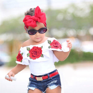 New Toddler Kids Baby Girls Summer T-shirt