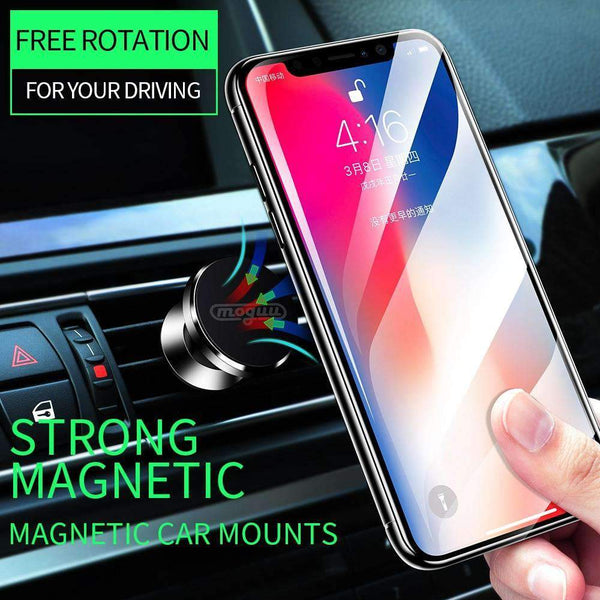 Universal 360° Rotation Aluminium Alloy Car Air Vent Magnetic Phone