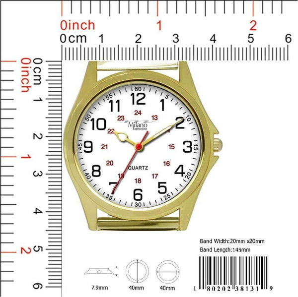 39MM Milano Expressions Flex Band Watch - 3813