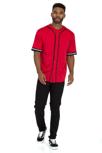 TAPED BASEBALL JERSEY- RED