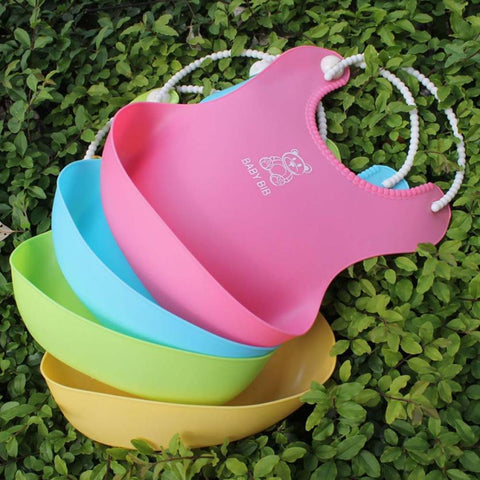 Baby Bibs&Burp Clothes Bib silicone Waterproof Kids Boys Girls Feeding