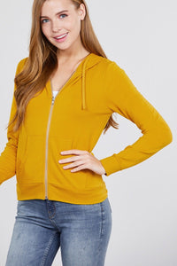 Mustard - Long Sleeve French Terry Jacket