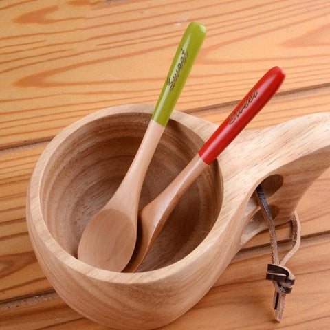 Dessert Small Wooden Spoon Coffee Mixing Spoon