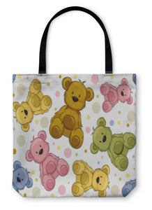 Tote Bag, Seamless Teddy Bears