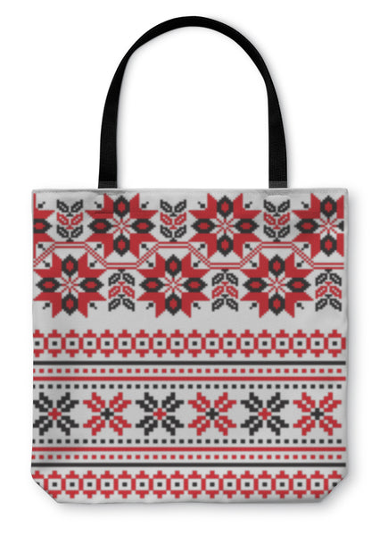 Tote Bag, Ukrainian Embroidery Pattern
