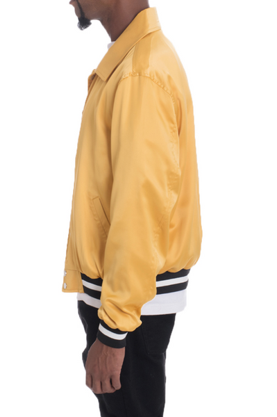 LUXE SATIN BOMBER- GOLD