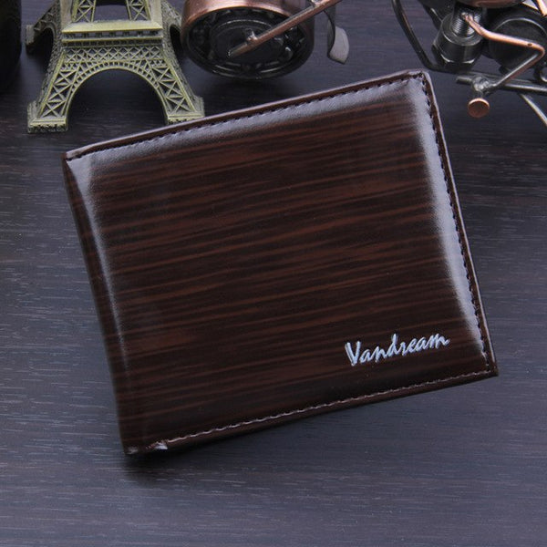 Men Wallets Bifold Business PU Leather