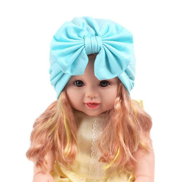 Newborn Baby Kids Cap Big Bow Beanies Hat For
