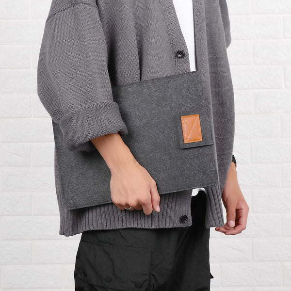 Portable Laptop Sleeve Bag Case Wool Felt Anti