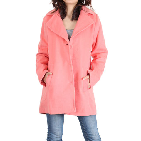 Urban Diction Coral Wool Pea coat