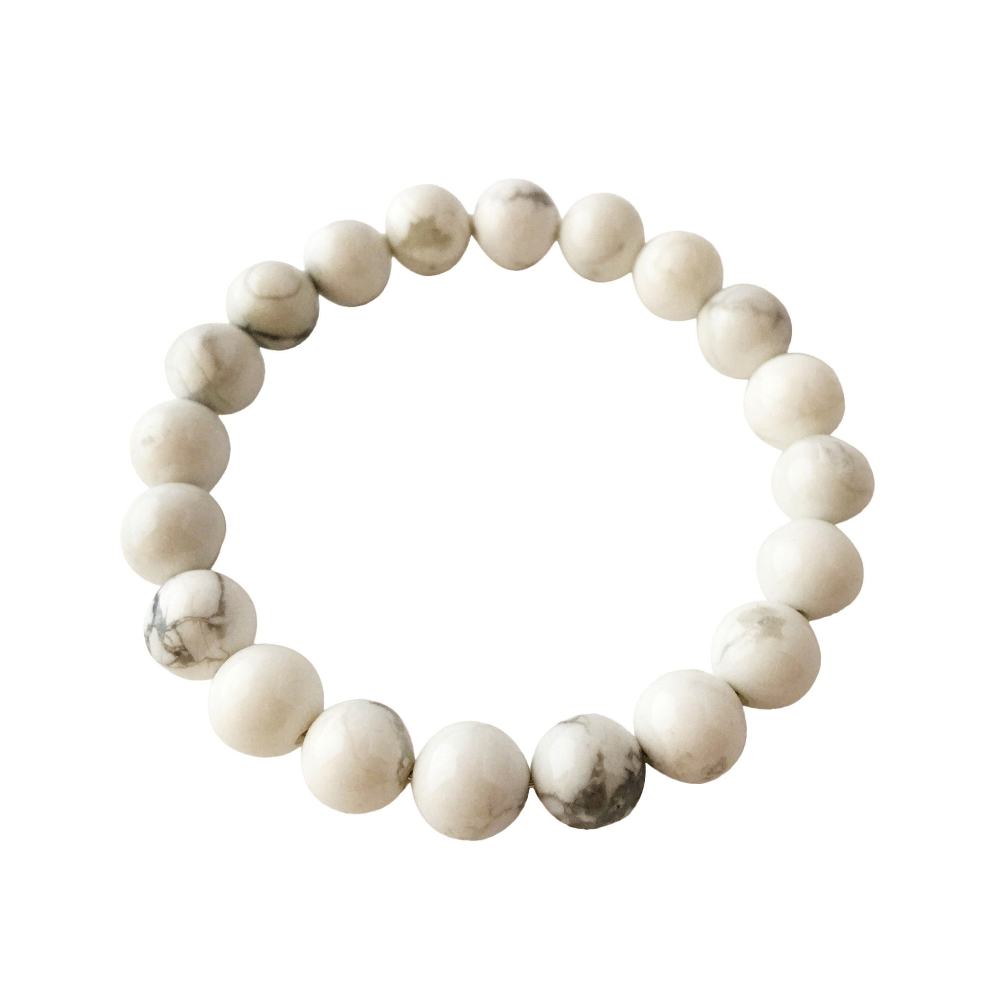 8mm White Howlite Bracelet