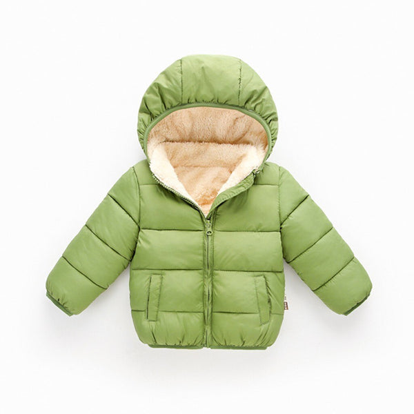 Windproof Children Kids Winter Hooded Coat Cloak