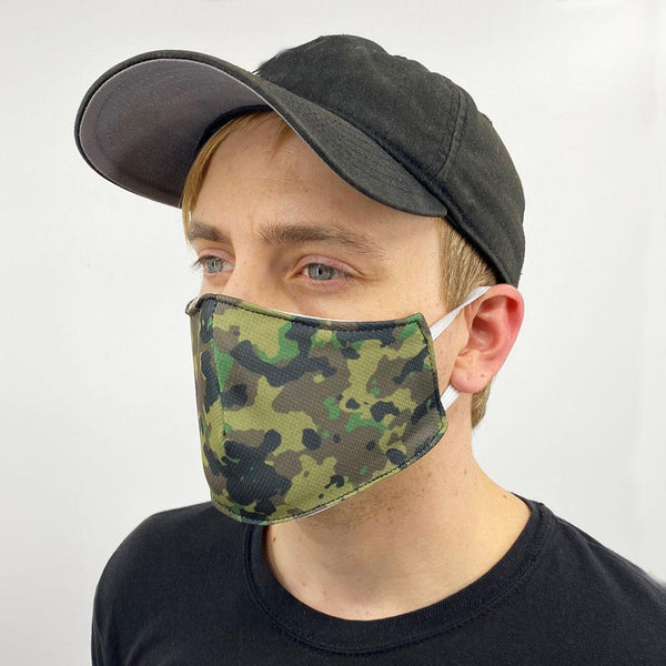 Green Army Camo Face Cover