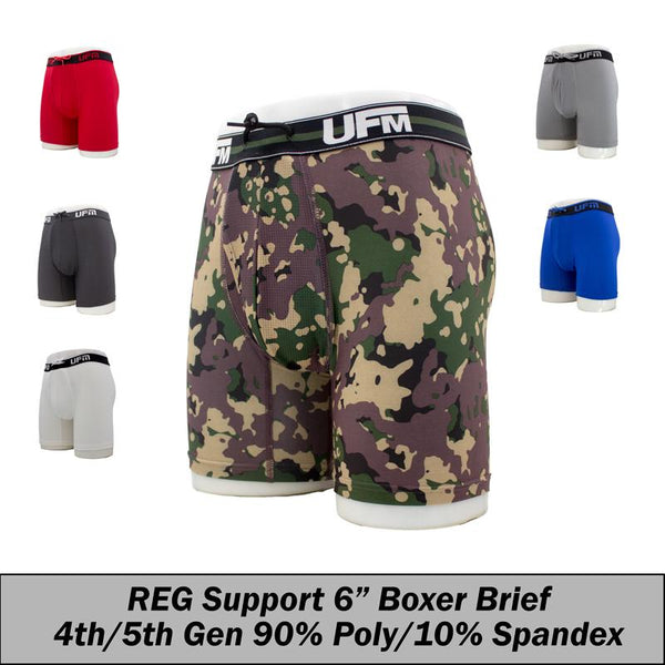 REG Support 6 Inch Boxer Briefs Polyester Gen 4-5 Avail Black, Camo,