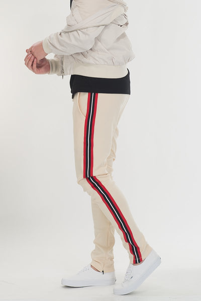 SHIELD TAPED PANTS- BEIGE