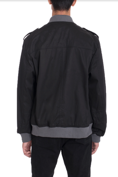 CASUAL BOMBER- BLACK