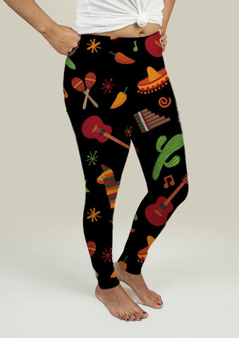 Leggings with Mexican Pattern