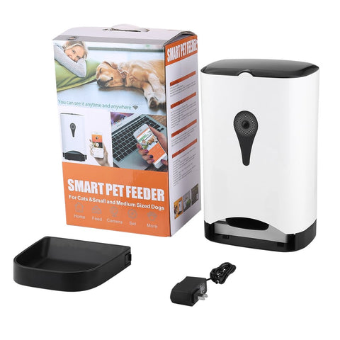 Smart Automatic Pet Feeder With Wireless Camera for Dog & Cat with Mobile App Controlled by IOS Andorid Smart Mobile Devices